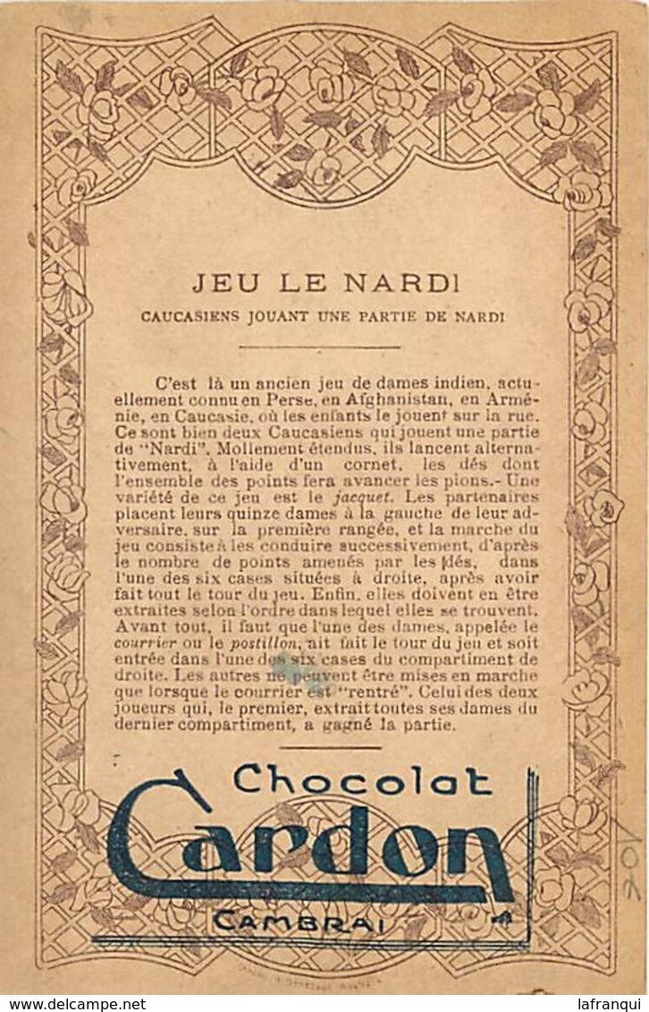 Pays Div -ref P94- Caucase -armenie -jeux -jeu Le Nardi -caucasiens - Partie De Nardi -publicité Chocolat Cardon - - Arménie