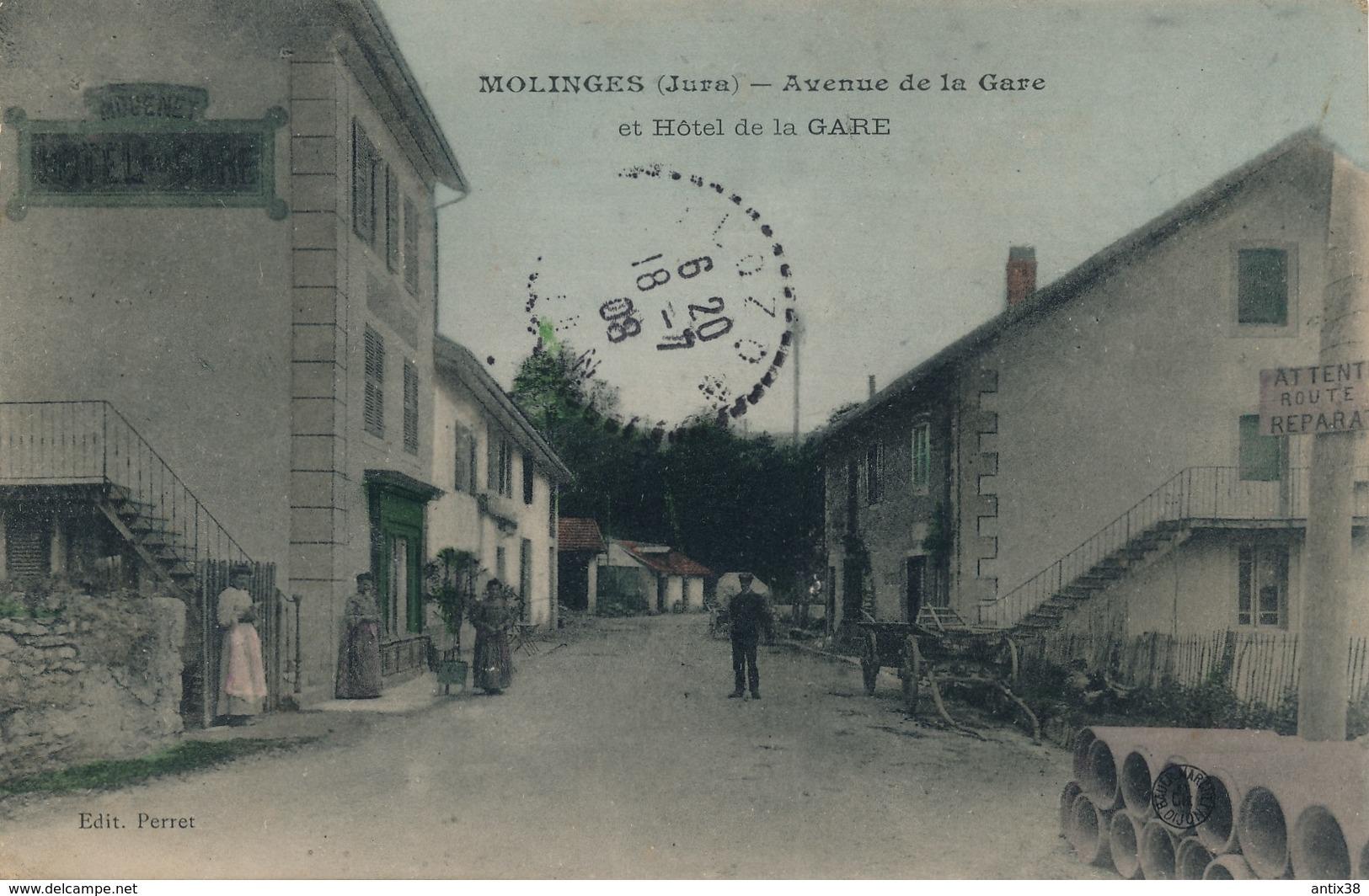 I23 - 39 - MOLINGES - Jura - Avenue De La Gare Et Hôtel De La Gare - France