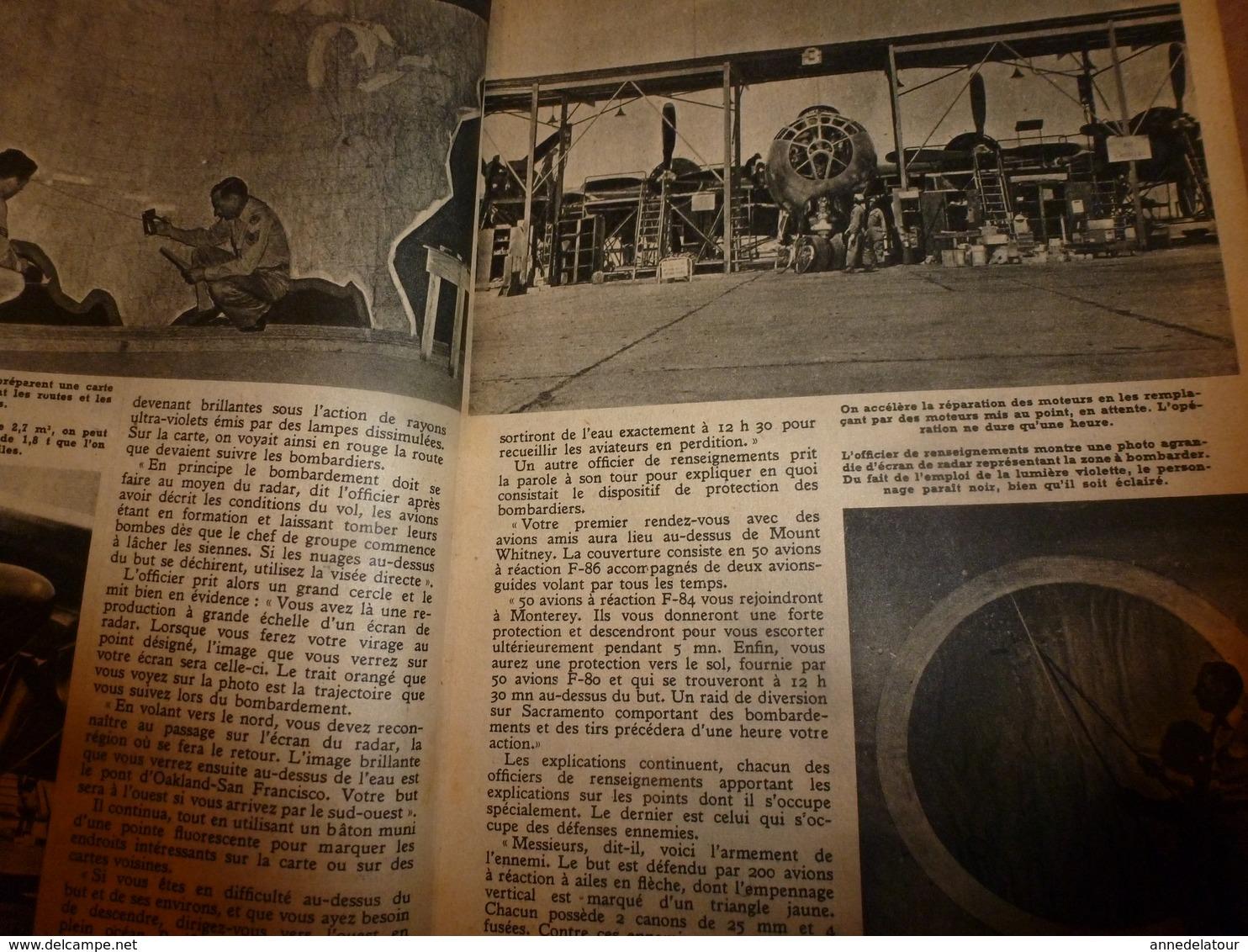 1951 MÉCANIQUE POPULAIRE:Faire Encadrement De Porte;Contre Maladie Des Pins;Construire Avec Des Agglos Pierre-ponce; Etc - Technical