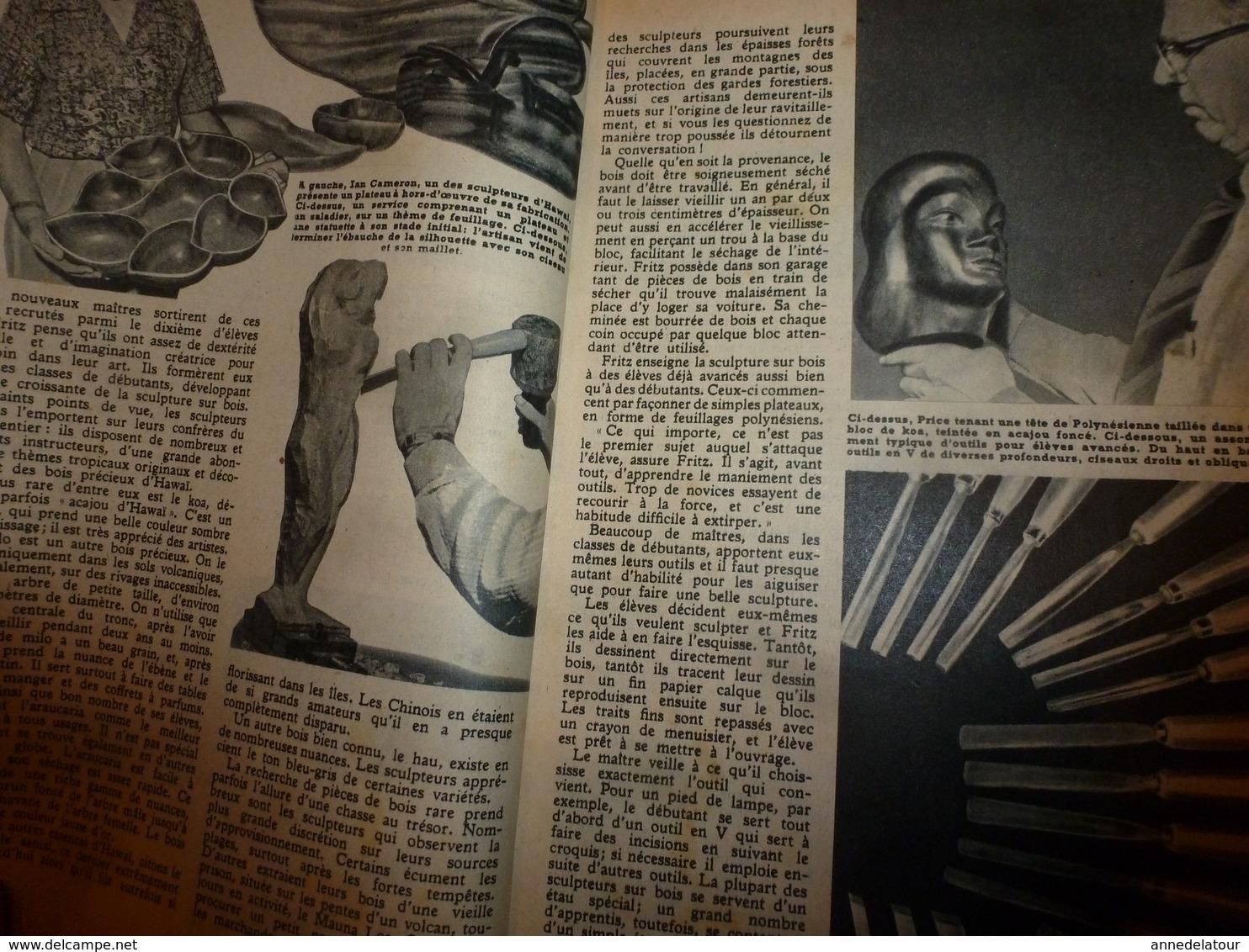 1951 MÉCANIQUE POPULAIRE:Faire De La Poterie; Ecole De Toréadors; Fritz Abplanalp Grand Artiste Suisse à Hawaï; Etc - Technical