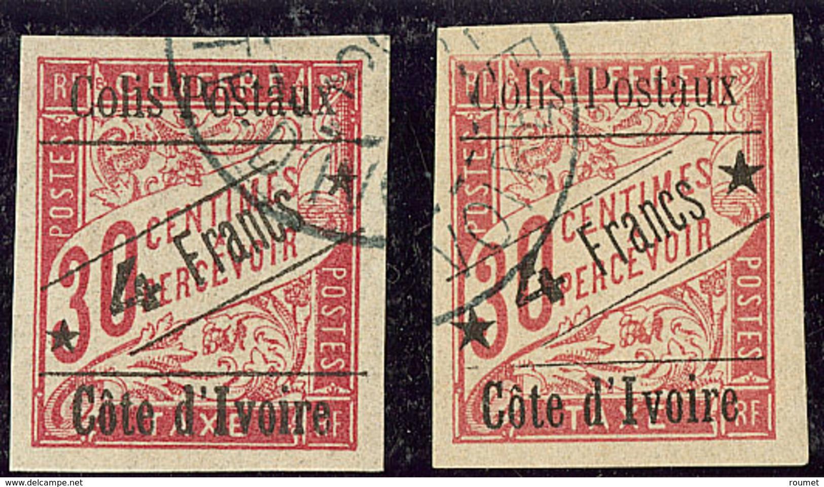 Colis Postaux. Nos 10, 10a. - TB - Ivory Coast (1892-1944)