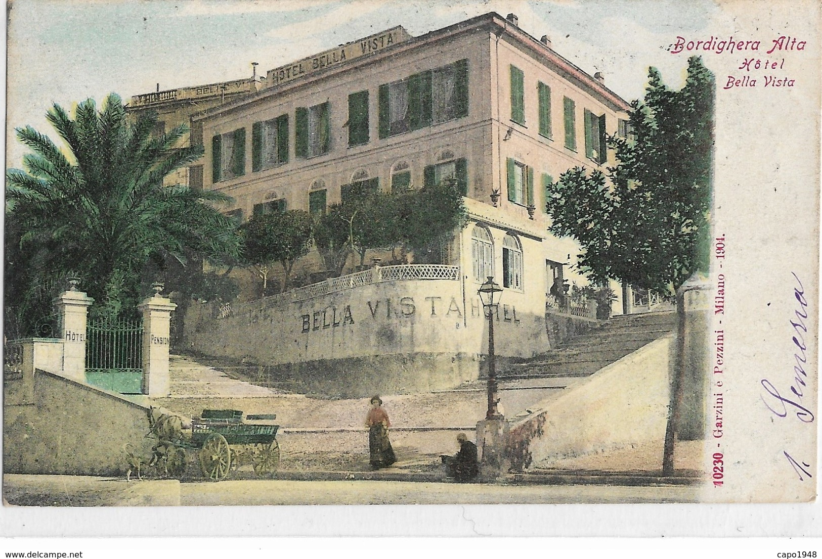 CARD  BORDIGHERA ALTA  HOTEL BELLA VISTA        (IMPERIA)-FP-V -2-   0882-28513 - Imperia