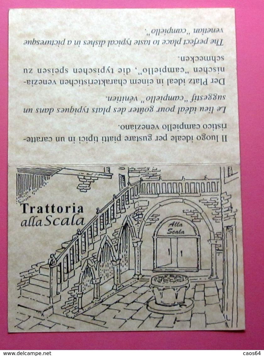 TRATTORIA  ALLA SCALA VENEZIA - Cartoncini Da Visita