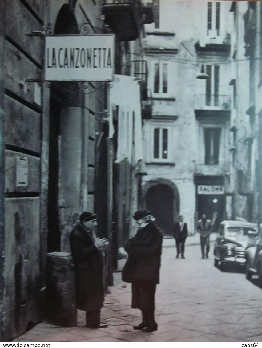 NAPOLI IMMAGINE DA CARTACEO D'EPOCA PICTURE OF VINTAGE PAPER - Immagine Tagliata