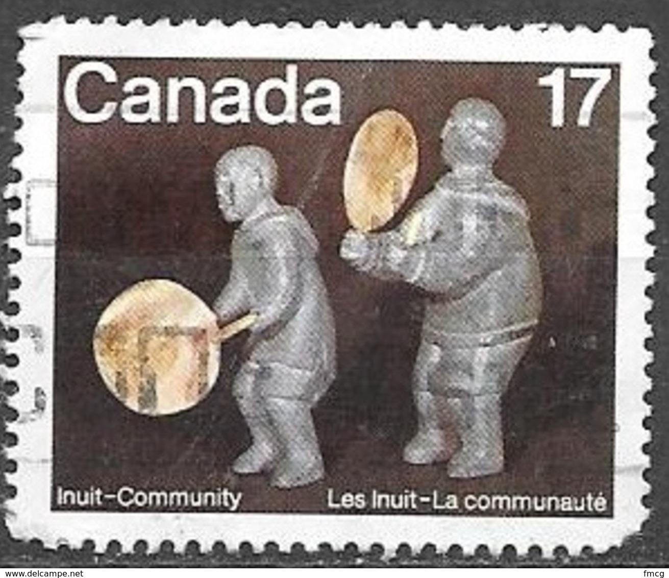1979 17 Cents Inuit Soapstone Figures, Used - 1952-.... Règne D'Elizabeth II