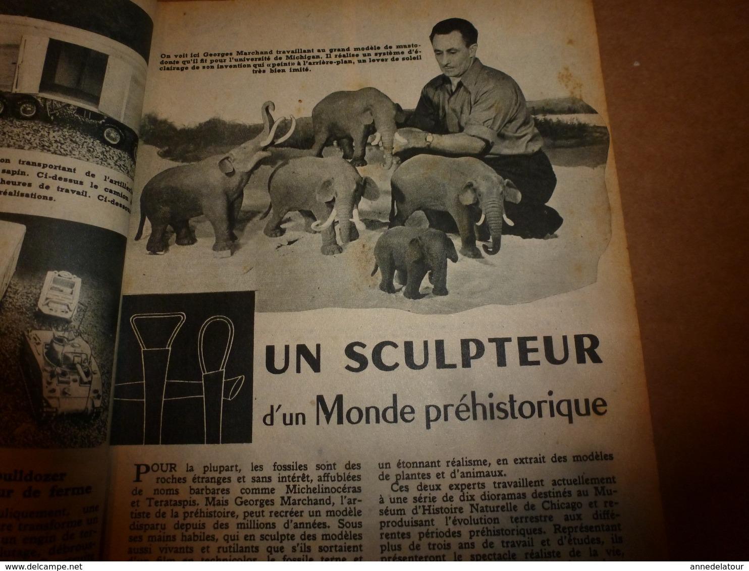 1951 MÉCANIQUE POPULAIRE: Je Construis Ma Maison En Contre-plaqué (5e Part);Auto A Pédales;Solution Bateau A Voile; Etc - Technical