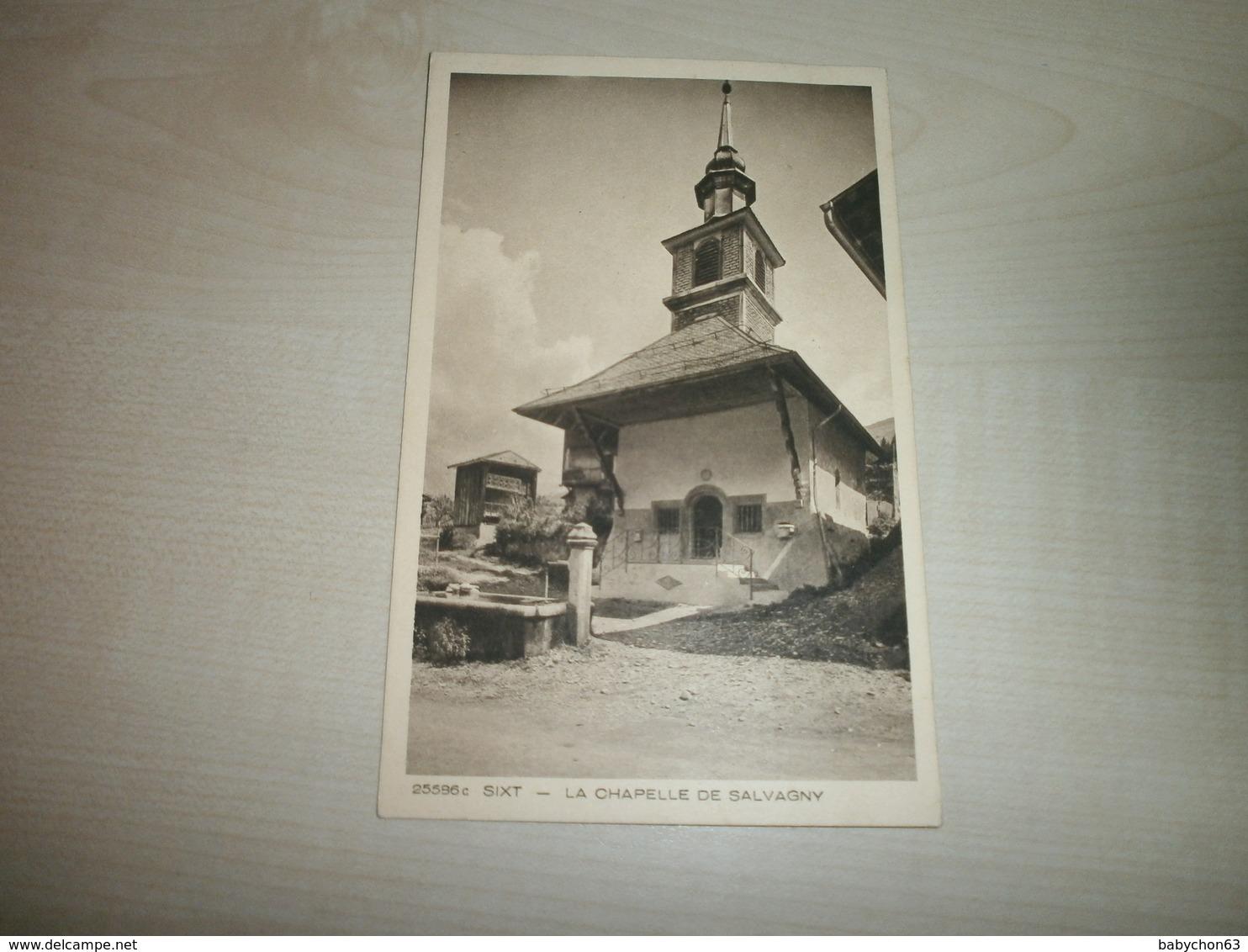 Carte Ancienne SALVAGNY Chapelle - Autres Communes