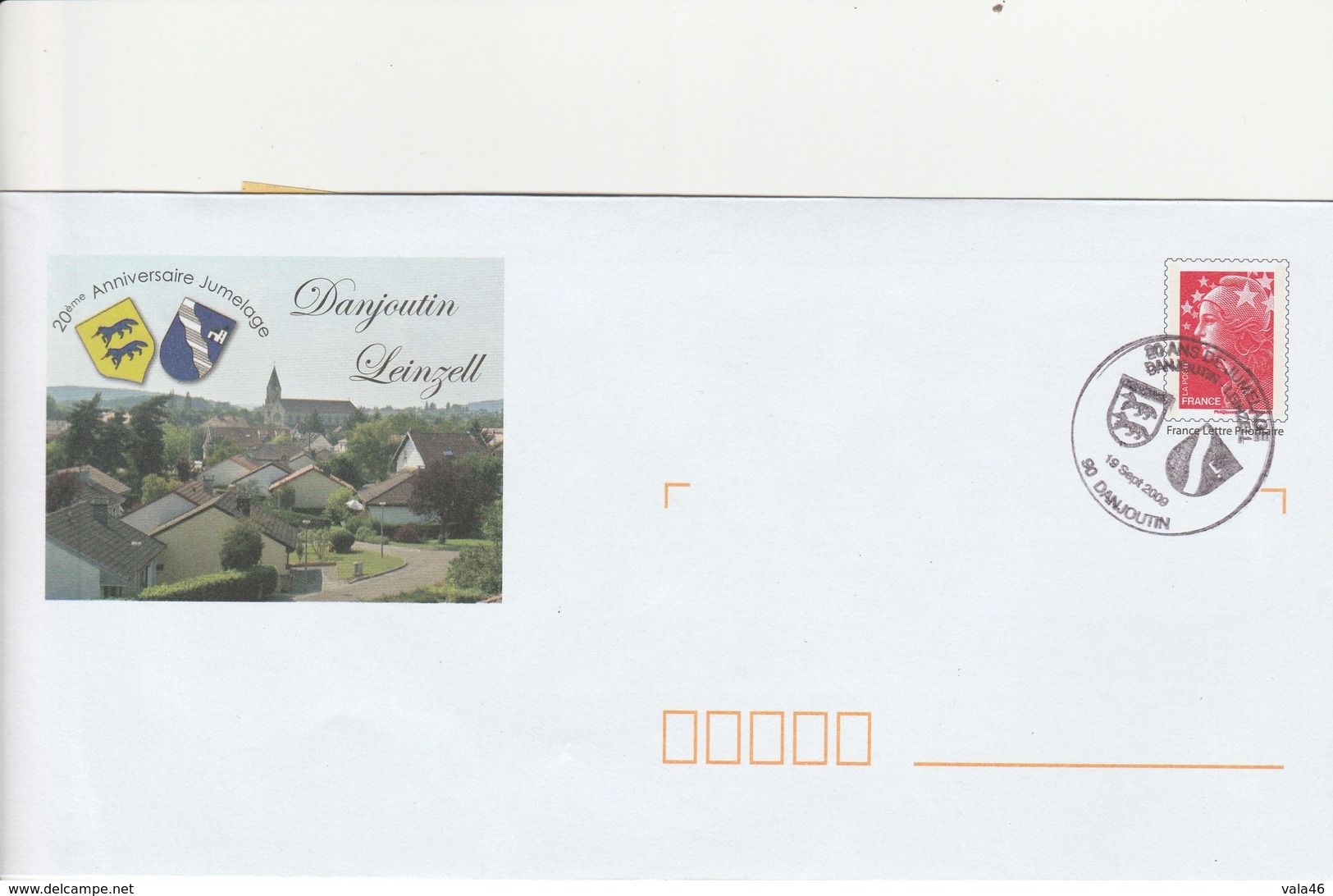 MARCOPHILIE  MARIANNE DE BEAUJARD  N° 4230 SUR ENVELOPPE PRE-TIMBREE - Marcophilie (Lettres)