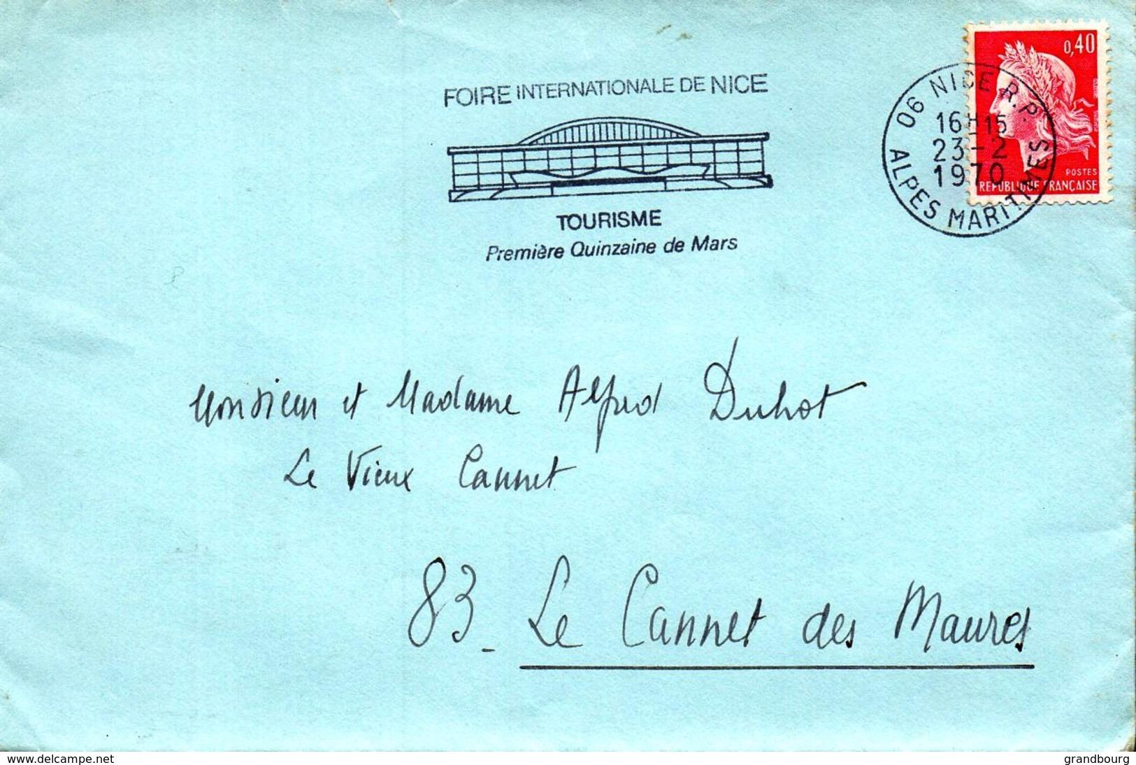1 - Flamme NICE 06 FOIRE INTERNATIONALE DE NICE  - 1970 - Storia Postale