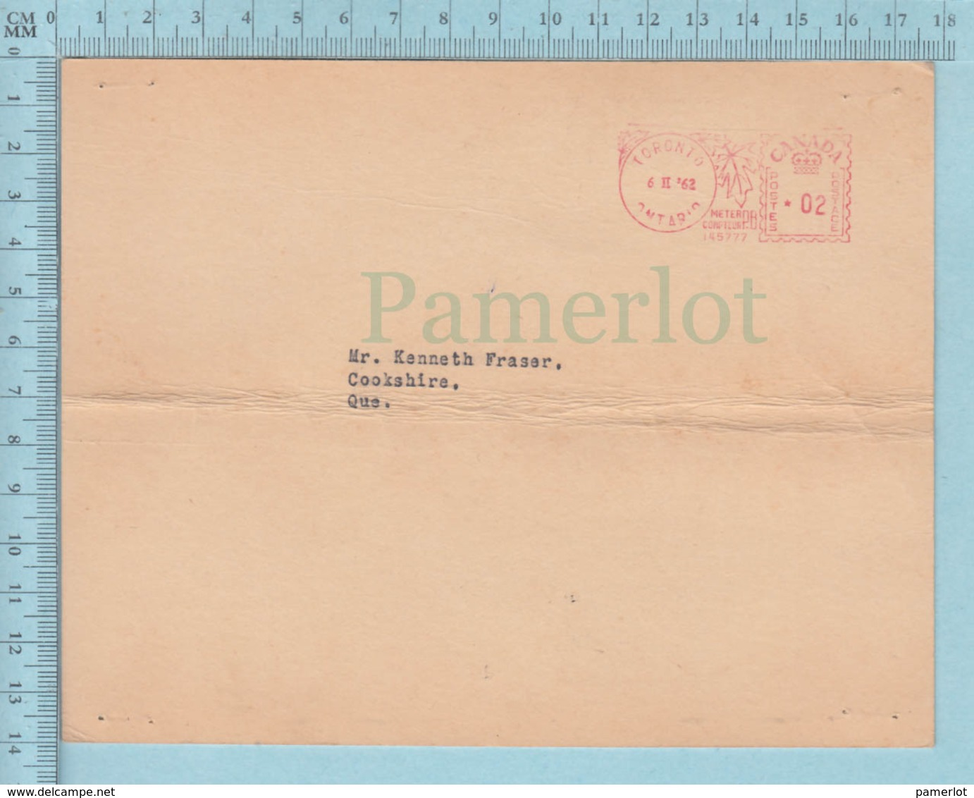 EMA 2¢, 1962 - Canadian Pacific Express Co. Fee For Payment In United State - - 1952-.... Règne D'Elizabeth II