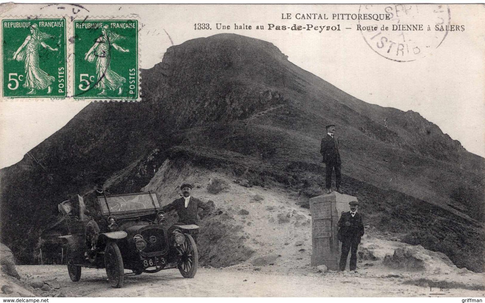 LE PAS DE PEYROL UNE HALTE ROUTE DE DIENNE A SALERS 1912 TBE - Autres Communes