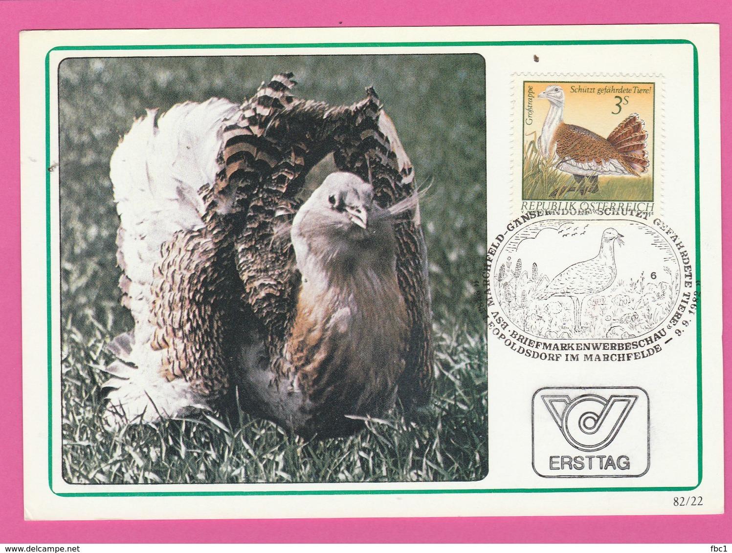 Carte Maximum - Oiseaux - Grande Outarde - Autriche - Oiseaux