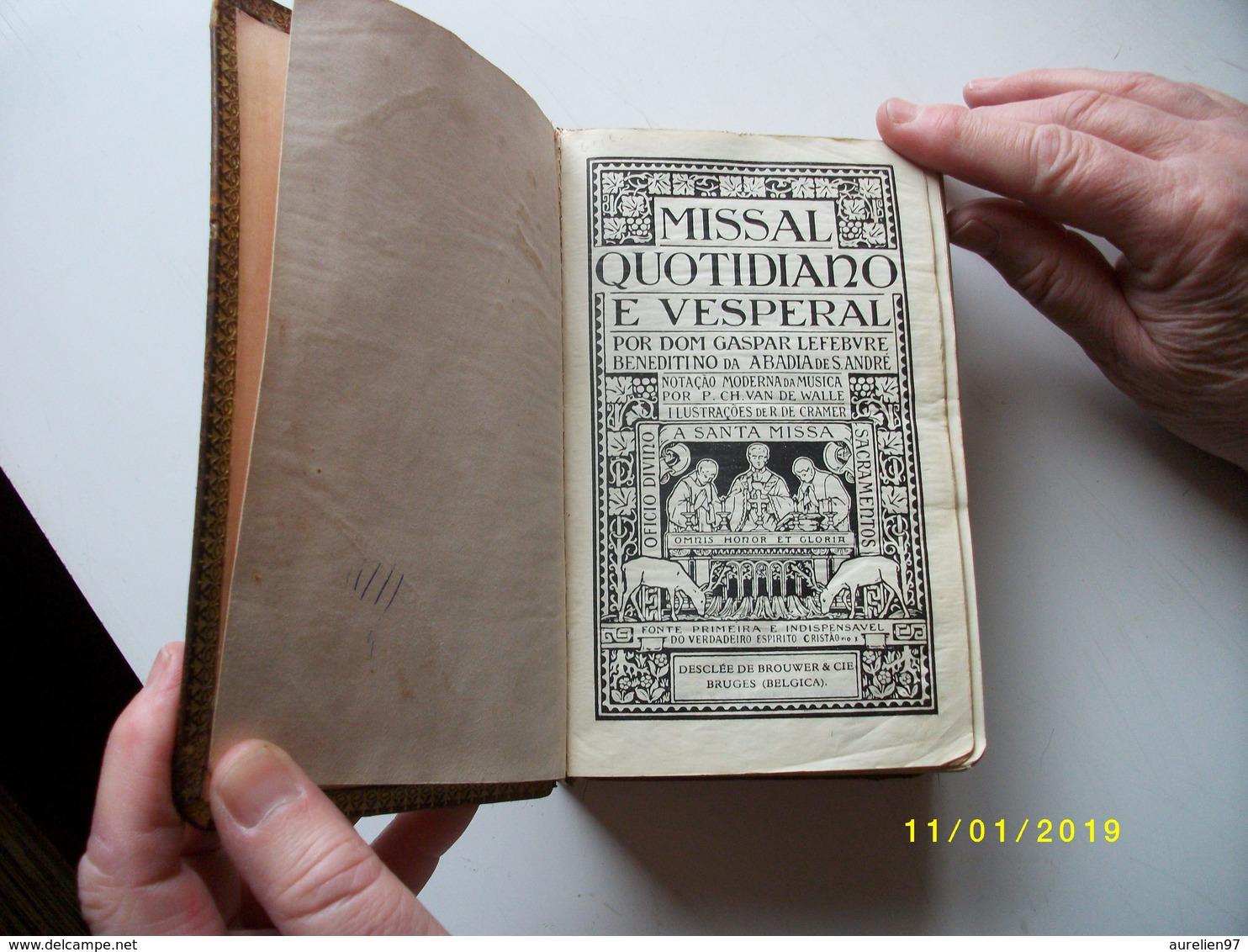 TRES BEAU MISSEL:missal Quotidiano Et Vesperal - Livres, BD, Revues