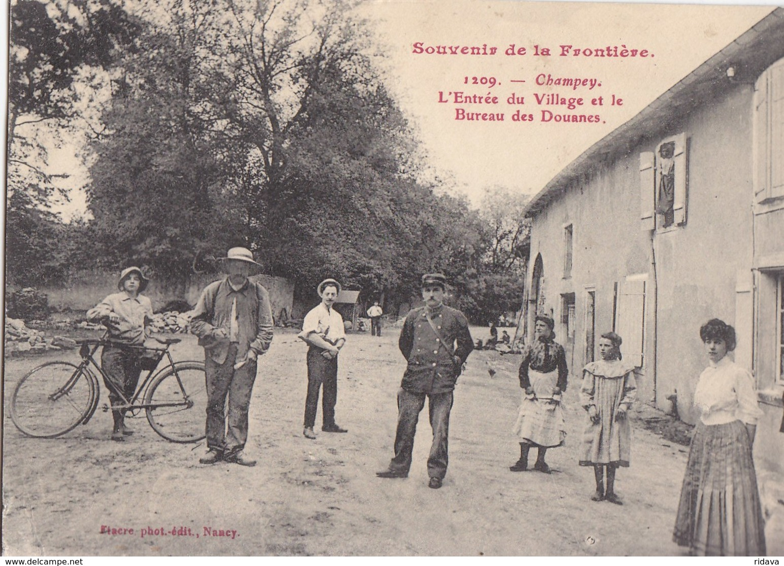 SOUVENIRS DE LA FRONTIERE CHAMPEY DOUANES N° 1209 - Other Municipalities
