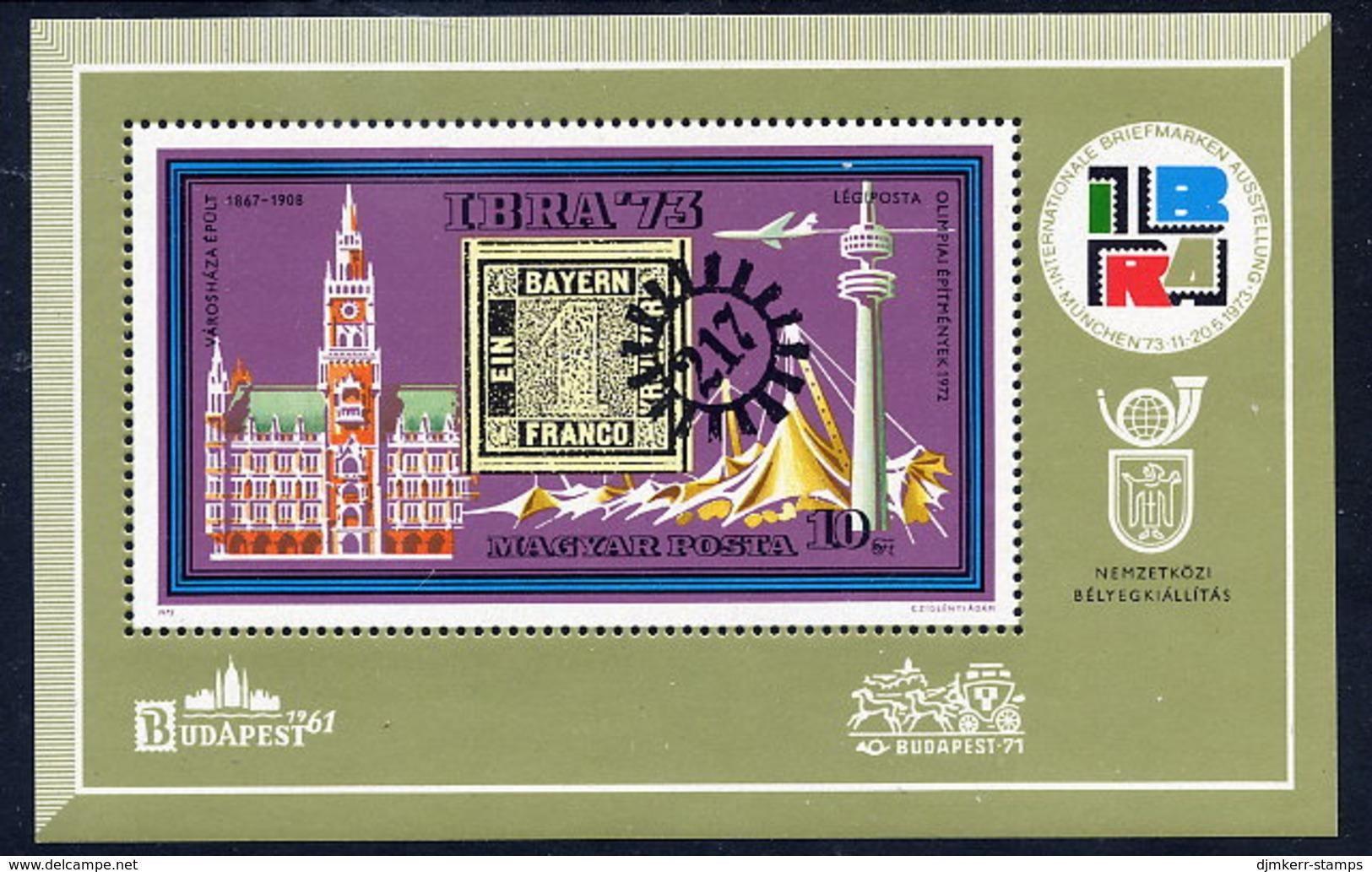HUNGARY 1973 IBRA '73 Exhibition Block MNH / **.  Michel Block 97 - Blocks & Sheetlets