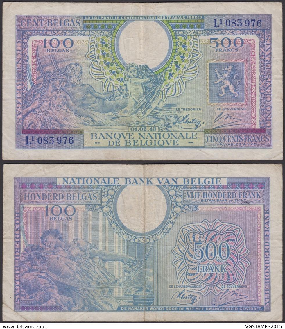 Billet De 500 Francs 01/02/43   (DD) DC1497 - 500 Francs-100 Belgas