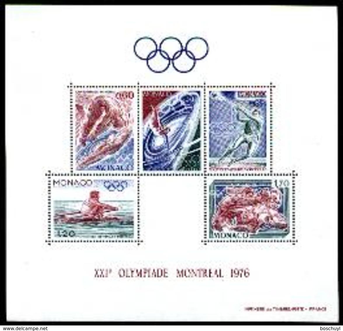 Monaco, 1976, Olympic Summer Games Montreal, Sports, MNH, Michel Block 9 - Monaco