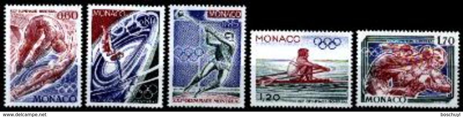 Monaco, 1976, Olympic Summer Games Montreal, Sports, MNH, Michel 1225-1229 - Monaco