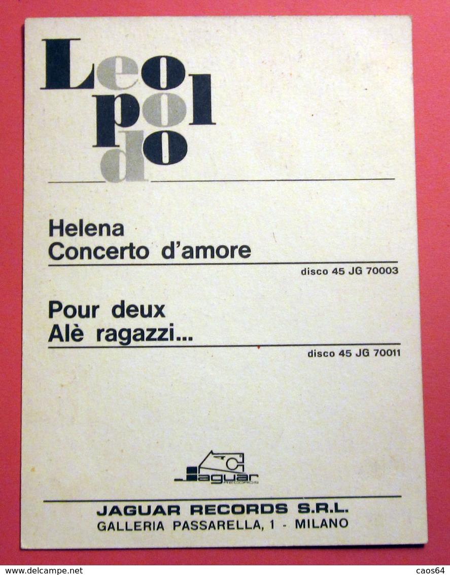 LEOPOLDO POUR DEUX ALE' RAGAZZI JAGUAR 1963 PROMOCARD - Autogramme