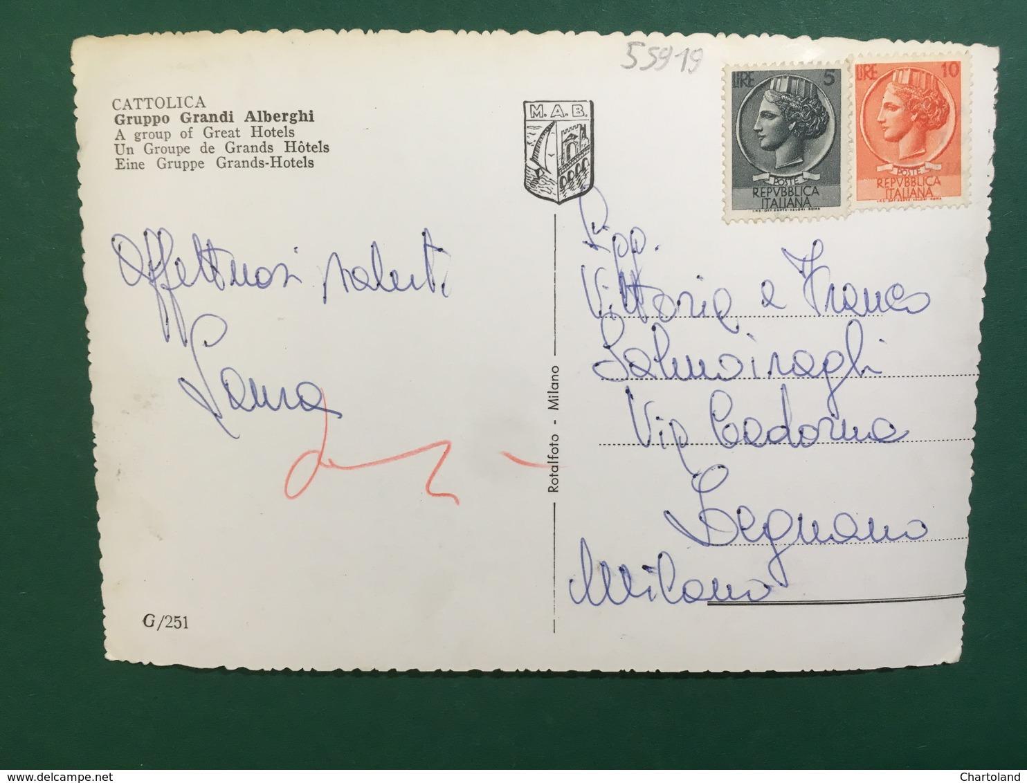 Cartolina Cattolica - Gruppo Grandi Alberghi - 1950 Ca. - Rimini