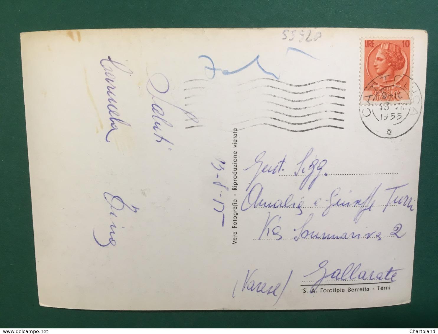 Cartolina Cattolica - Piazza I Maggio E Albergo Kursal - 1955 - Rimini