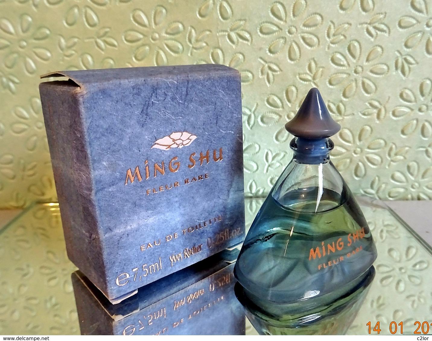 """Miniature """" MING SHU Fleur Rare""""  D' YVES ROCHER Eau De Toilette 7,5 Ml Dans Sa Boîte (M76-3) - Miniatures Modernes (à Partir De 1961)"""