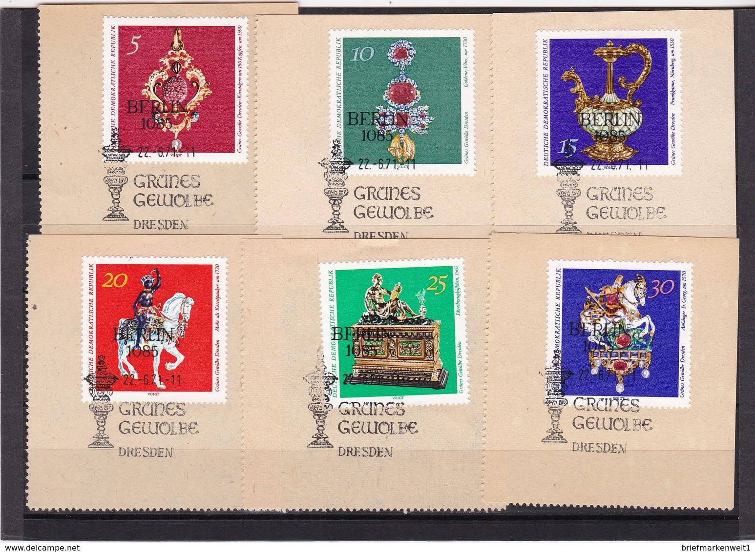 DDR, Nr. 1682/87 SST Auf Briefstück (K 3940) - Gebraucht