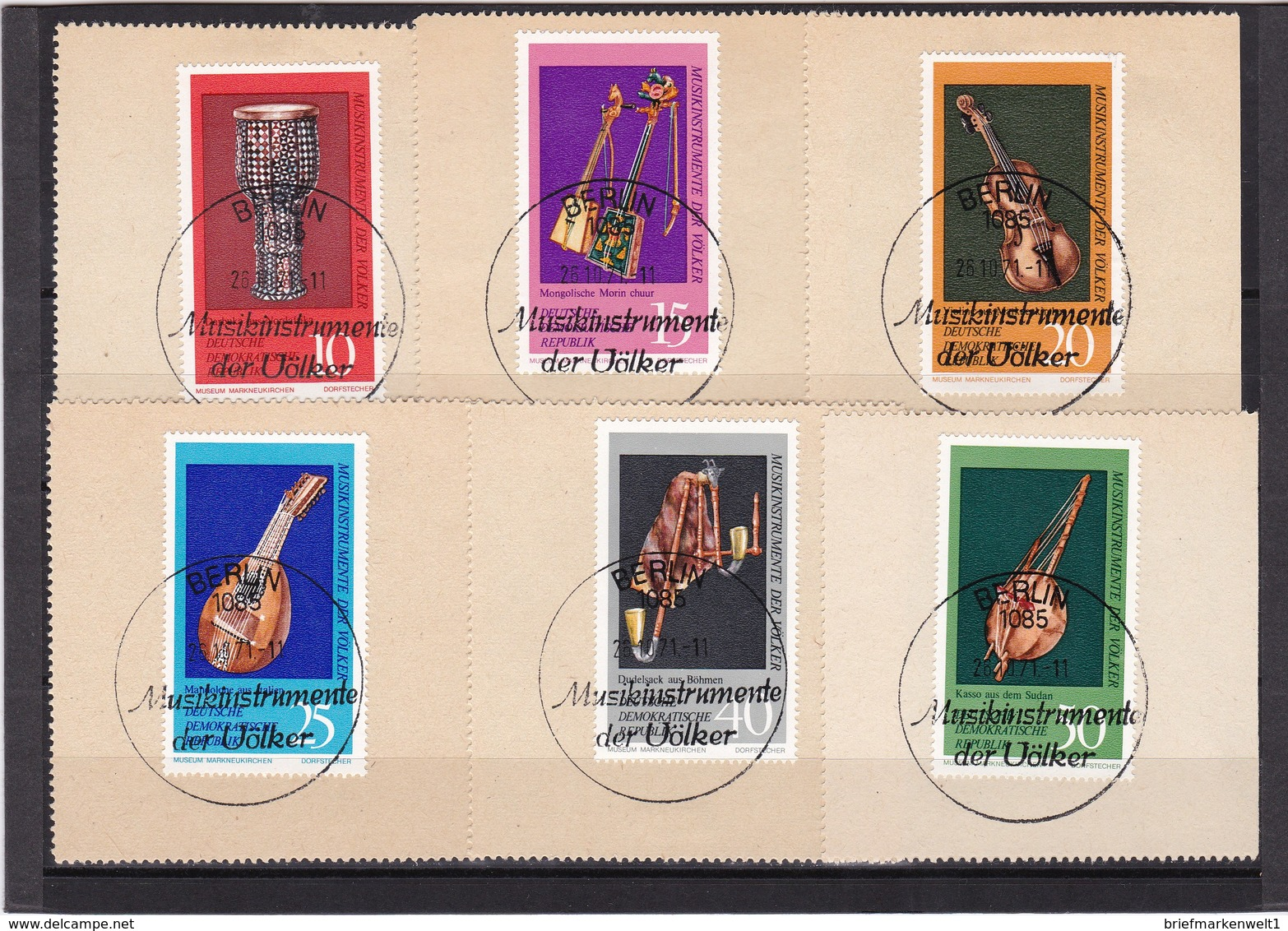 DDR, Nr. 1708/13 SST Auf Briefstück (K 3943b) - Gebraucht