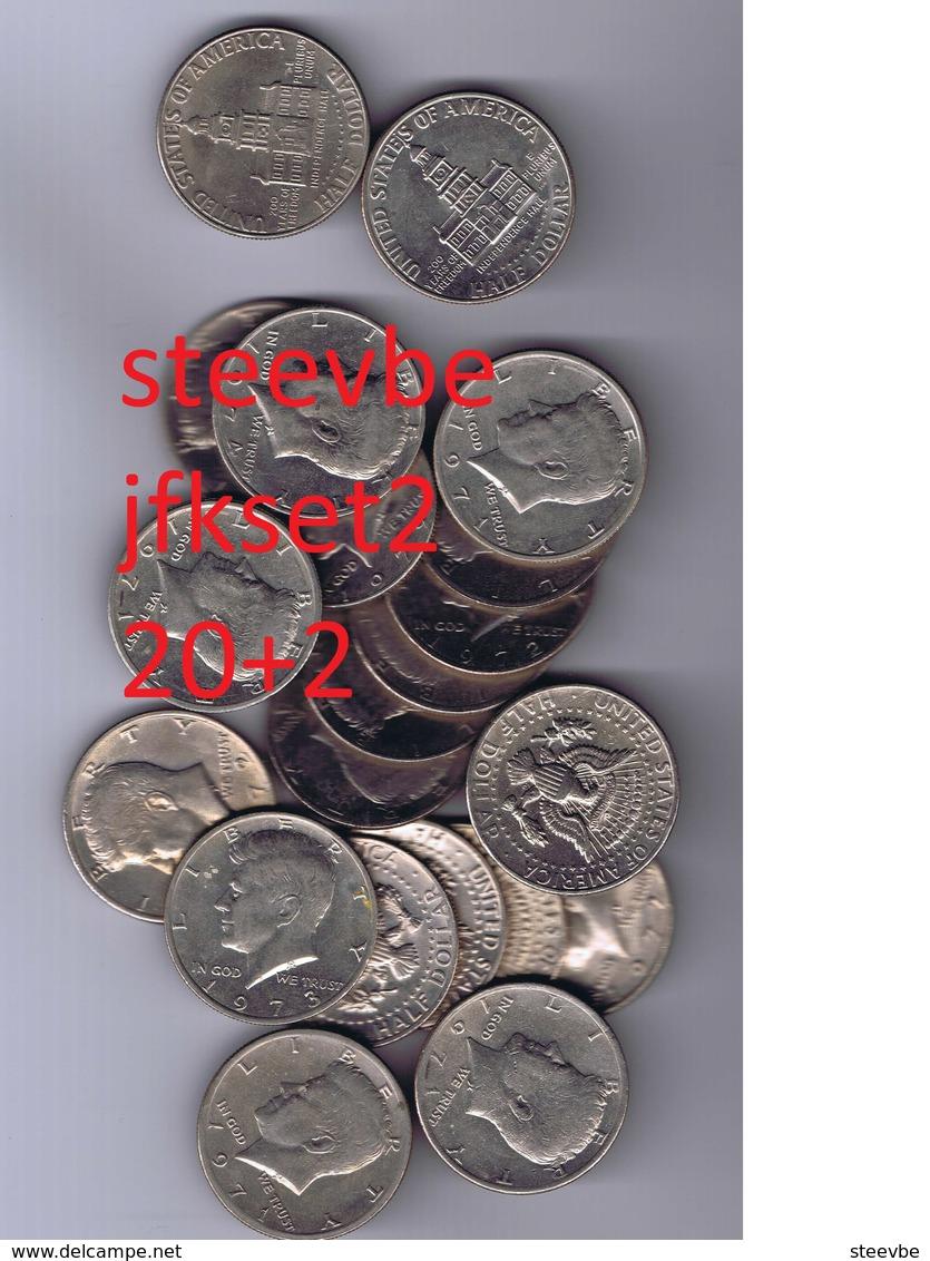 Half Dollar JFK Kennedy Set 20+2 Set2 - Federal Issues