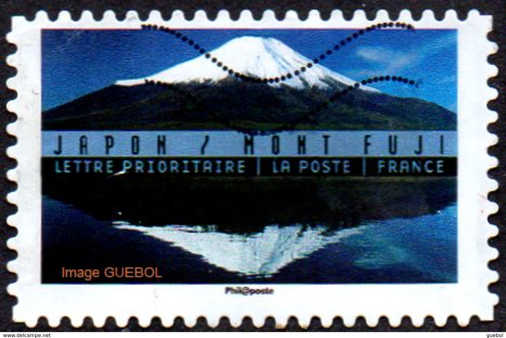 Oblitération Moderne Sur Adhésif De France N° 1366 - Paysages Du Monde - Mont Fuji (Japon) - France