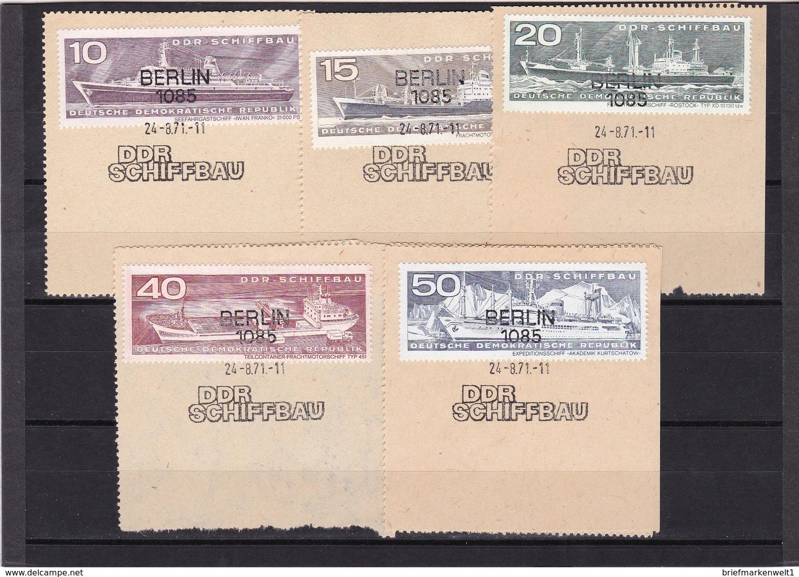 DDR, Nr. 1693/98 SST Auf Briefstück (K 3945) - DDR