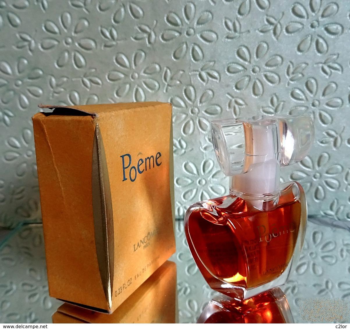 """Miniature """" POÈME """"  De LANCÔME Eau De Parfum Spray  7 Ml Dans Sa Boîte (M76-3) - Miniatures Modernes (à Partir De 1961)"""