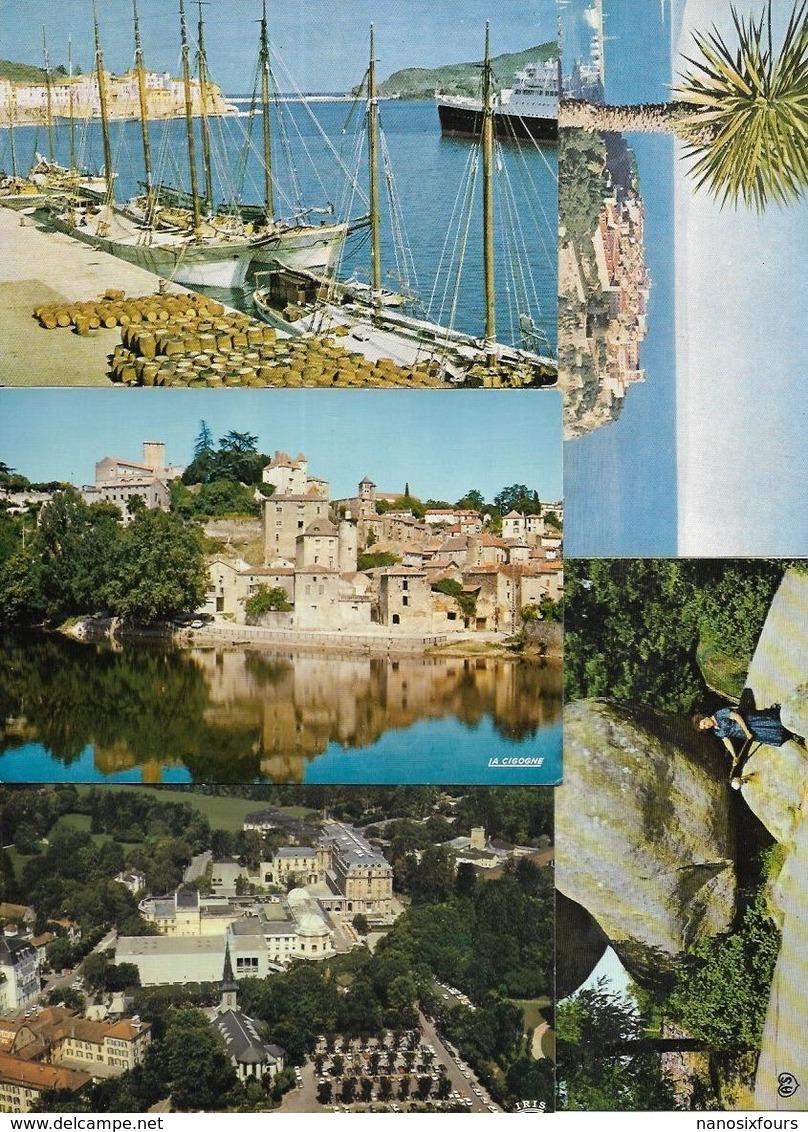 LOT DE 1240 CARTES DE FRANCE GRANT FORMAT A VOIR - 500 Postales Min.