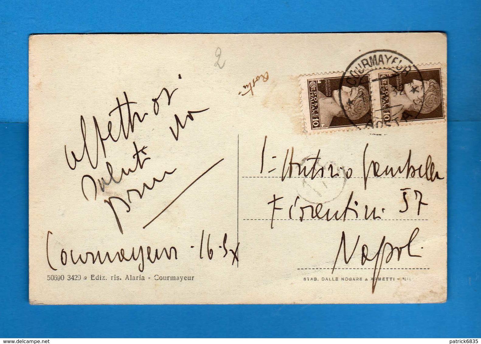 CORMAYEUR - Le GRANDES JORASSES. Viaggiata 16/05/1932. Vedi Descrizione - Altre Città