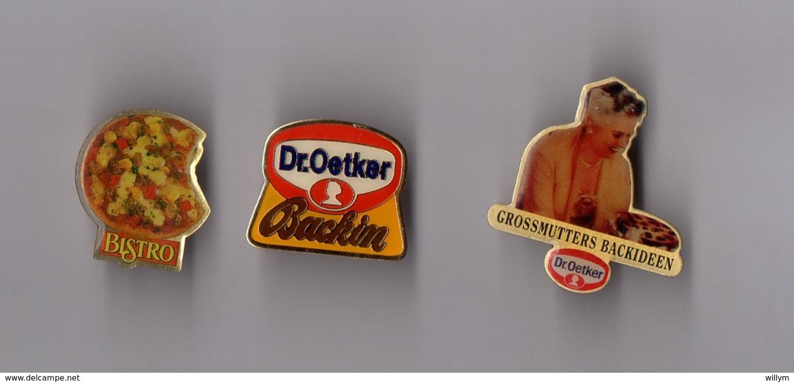 Lot De 3 Pin's Alimentation / Pizza (Dr Oetker - Bistro) époxy - Food