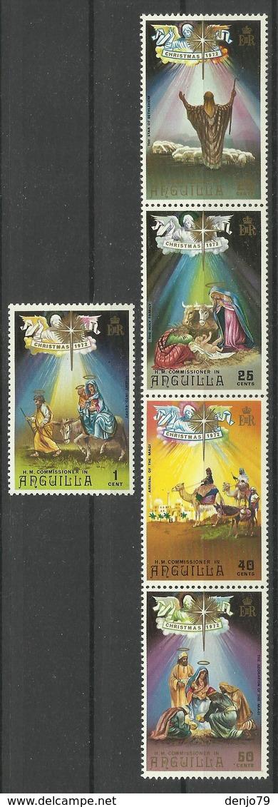 ANGUILLA  1972  CHRISTMAS   SET MNH - Anguilla (1968-...)