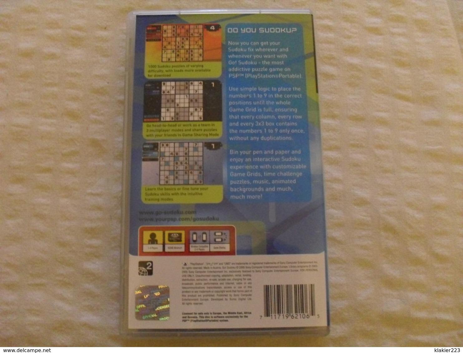 GO! Sudoku / SONY PSP - Sony PlayStation