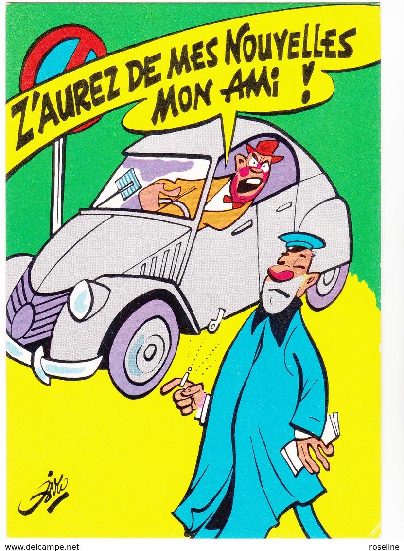 SIRO Ed  Borde  N°85   - Humour  Les Contractuels - Voiture 2CV Citroen -   CPSM  10,5x15 BE Neuve - Illustrators & Photographers