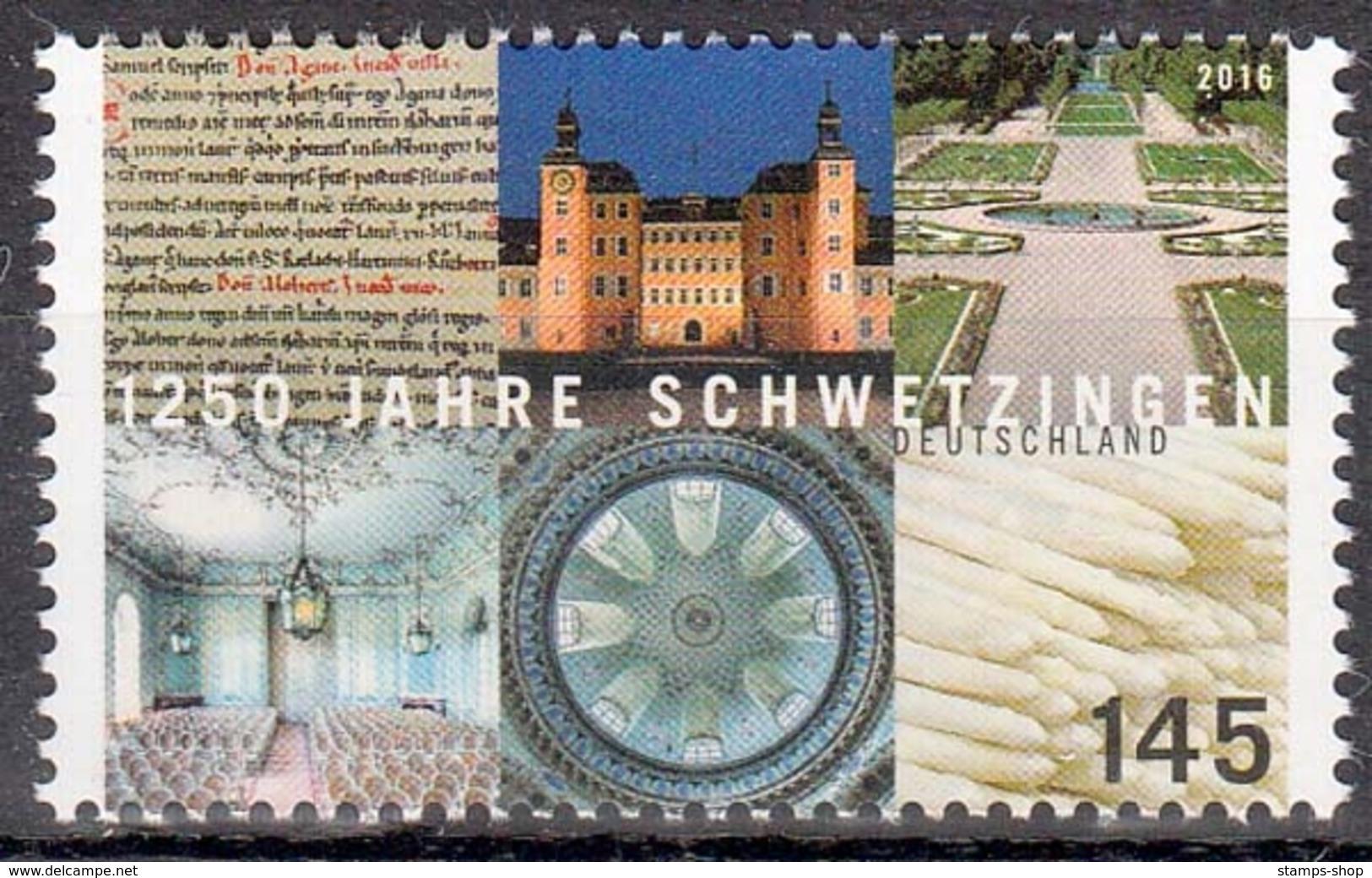 Bund MiNr. 3204 ** 1250 Jahre Schwetzingen - Unused Stamps