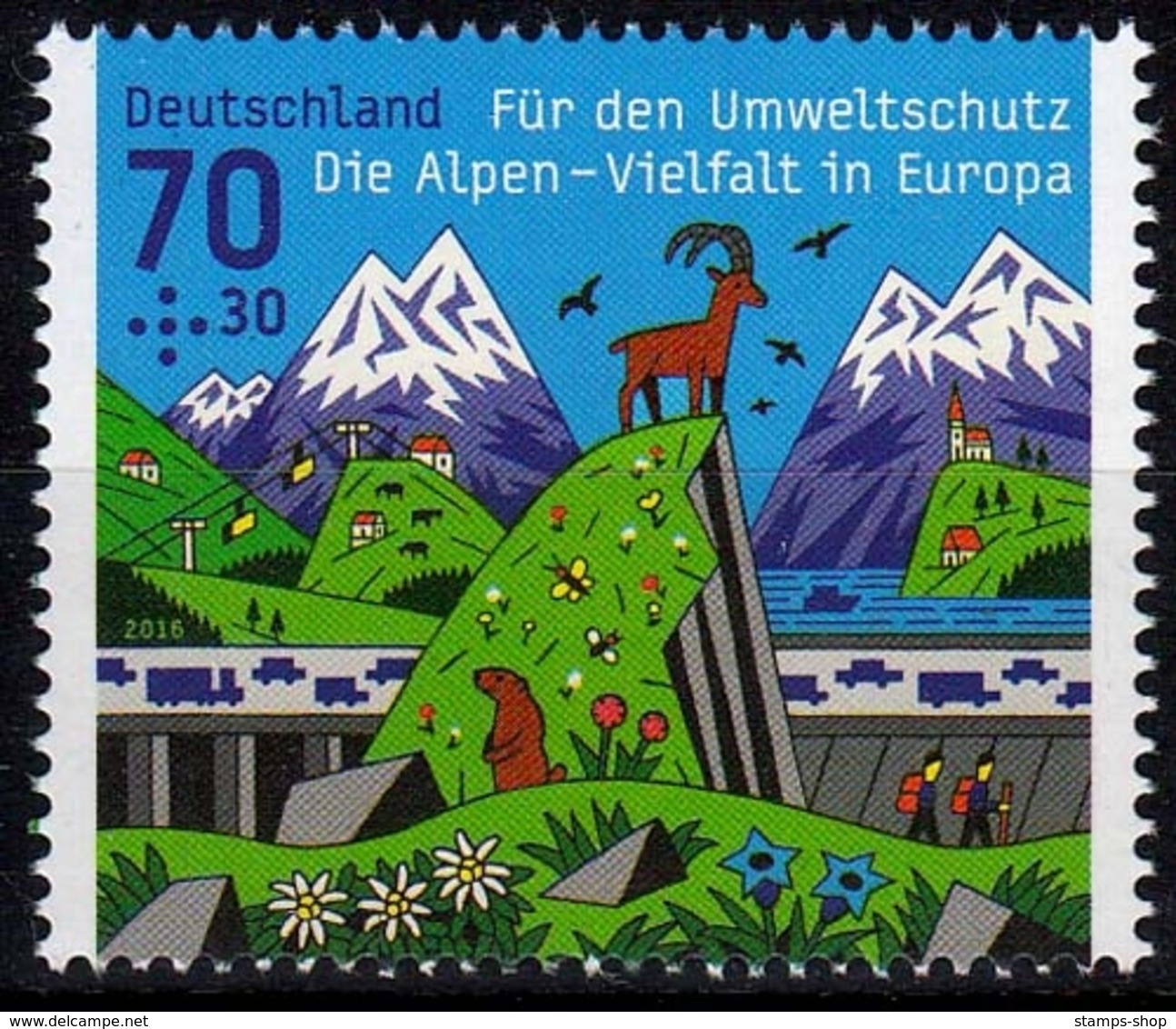 Bund MiNr. 3245 ** Umweltschutz: Die Alpen - Nuovi