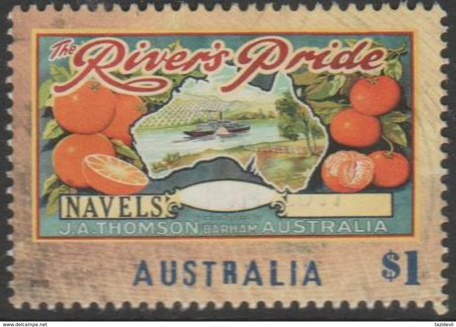 AUSTRALIA - USED 2016 $1.00 Nostalgic Fruit Box Labels - Oranges, New South Wales - 2010-... Elizabeth II