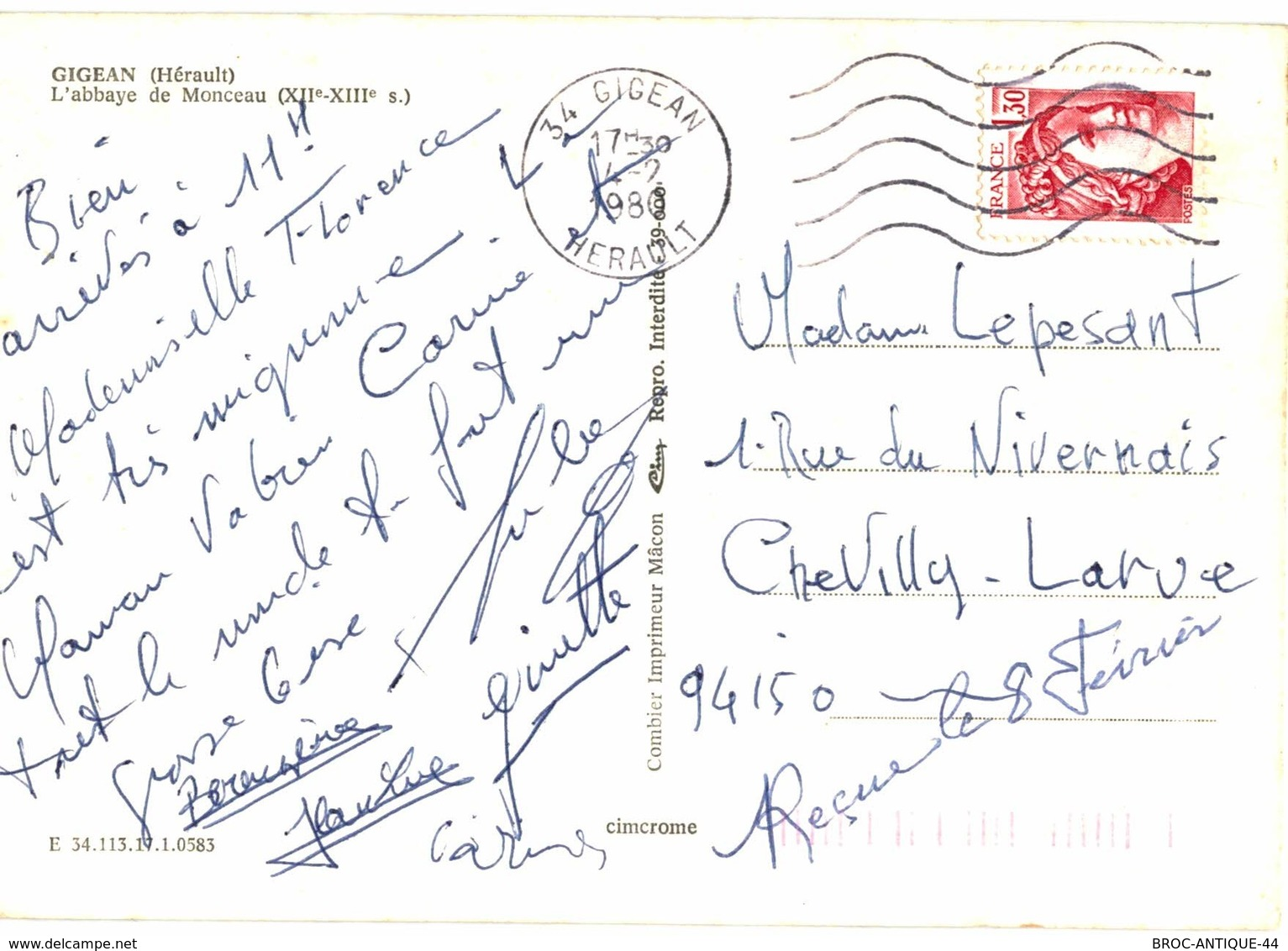 CPM* N°916 - GIGEAN - L' ABBAYE DE MONCEAU - Frankreich