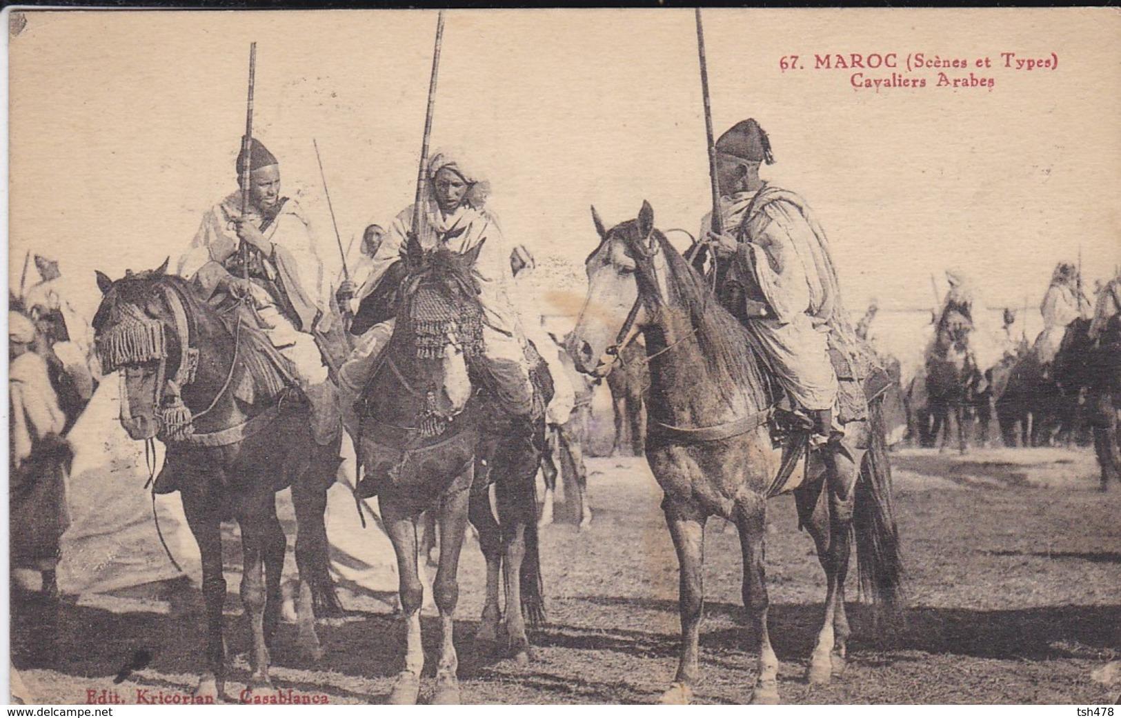 MAROC---cavaliers Arabes--( Scènes Et Types )--voir 2 Scans - Maroc