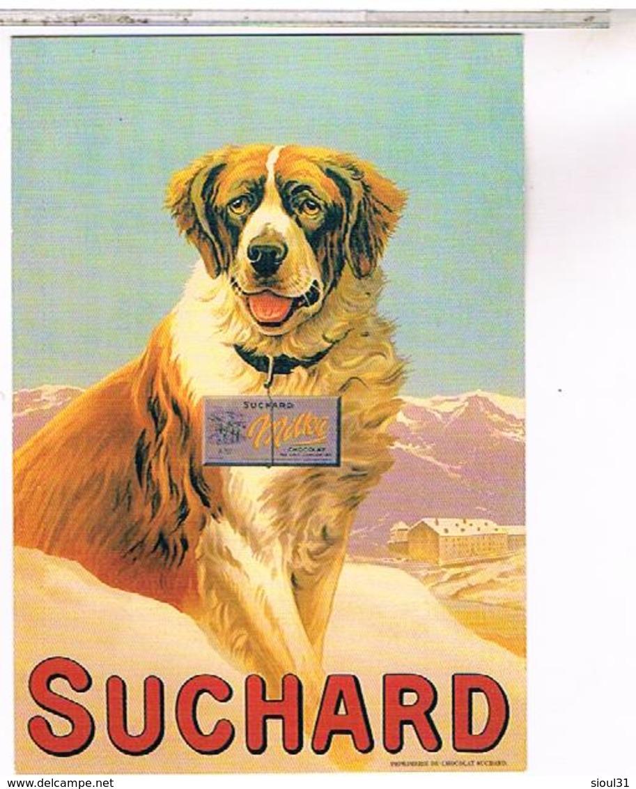 PUBLICITE CHOCOLAT AFFICHE 1900  SUCHARD CHIEN - Publicité
