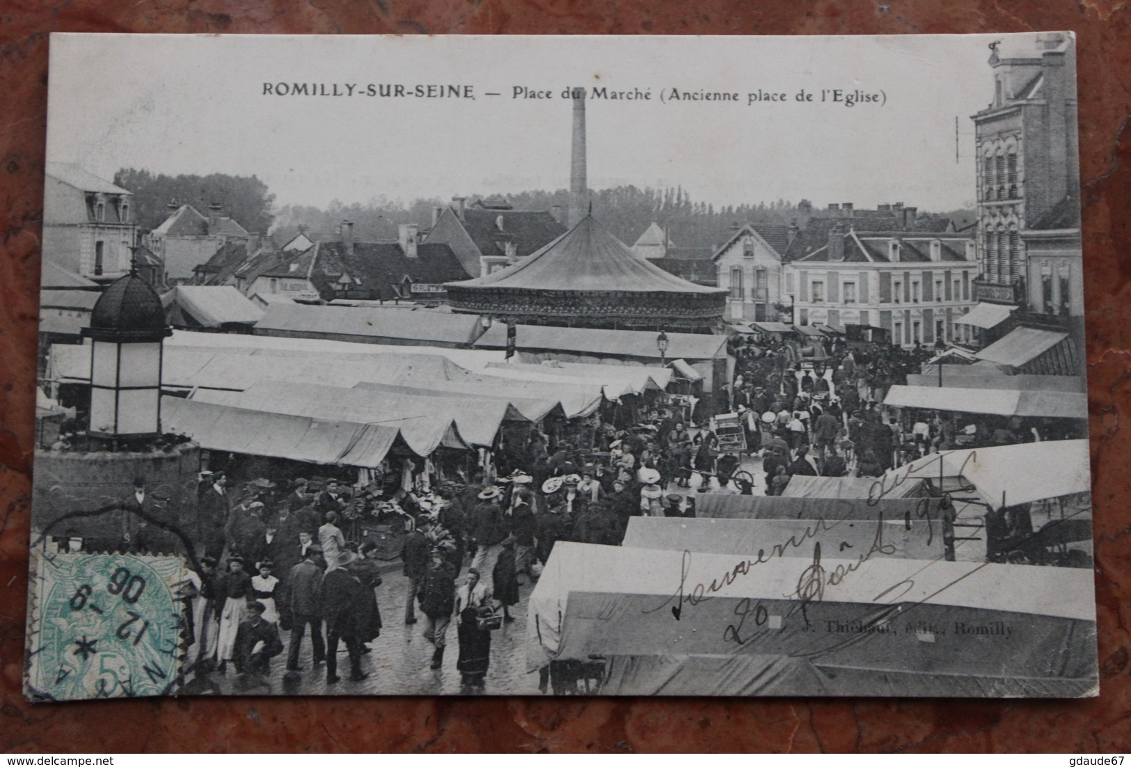 ROMILLY SUR SEINE (10) - PLACE DU MARCHE (ANCIENNE PLACE DE L'EGLISE) - Romilly-sur-Seine
