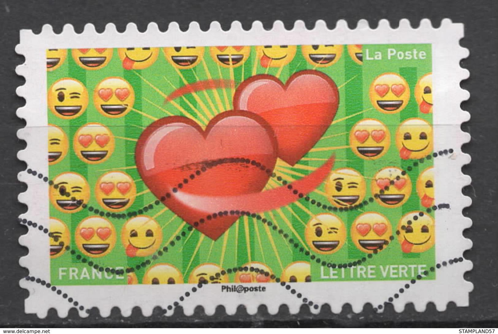 FRANCE  2018 Oblitéré : - Emoji - Adhésifs (autocollants)