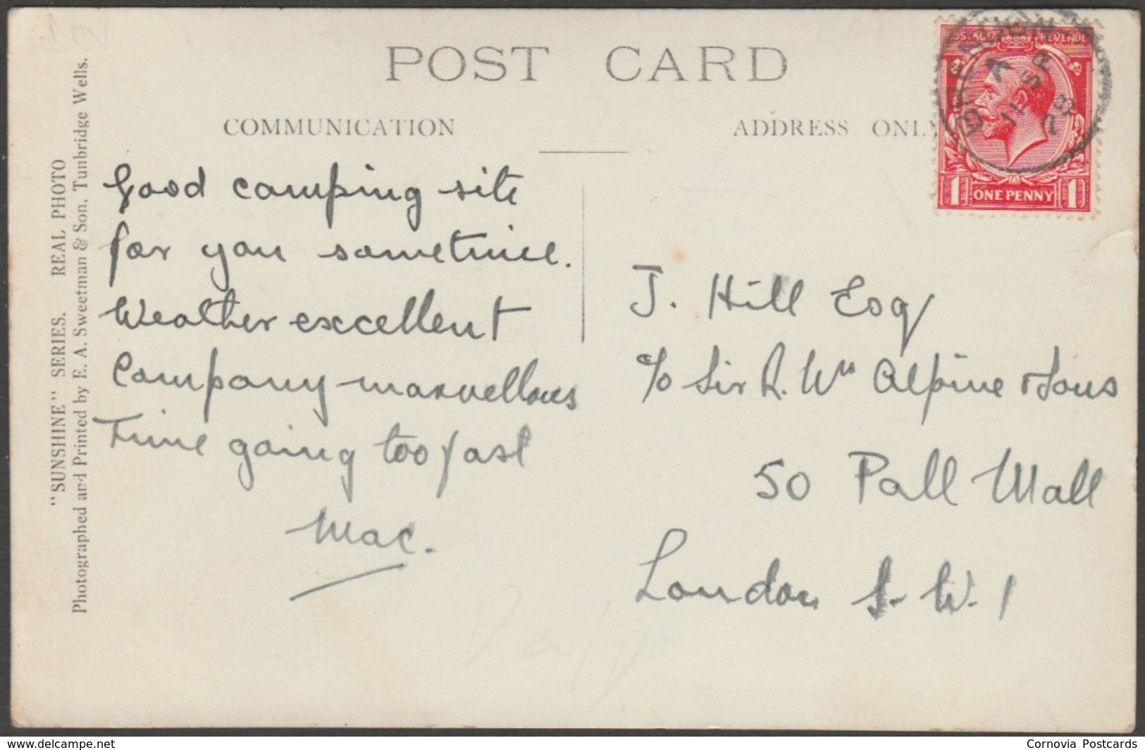 Cloud Farm, Oare, Doone Valley, Devon, 1928 - Sweetman RP Postcard - Other