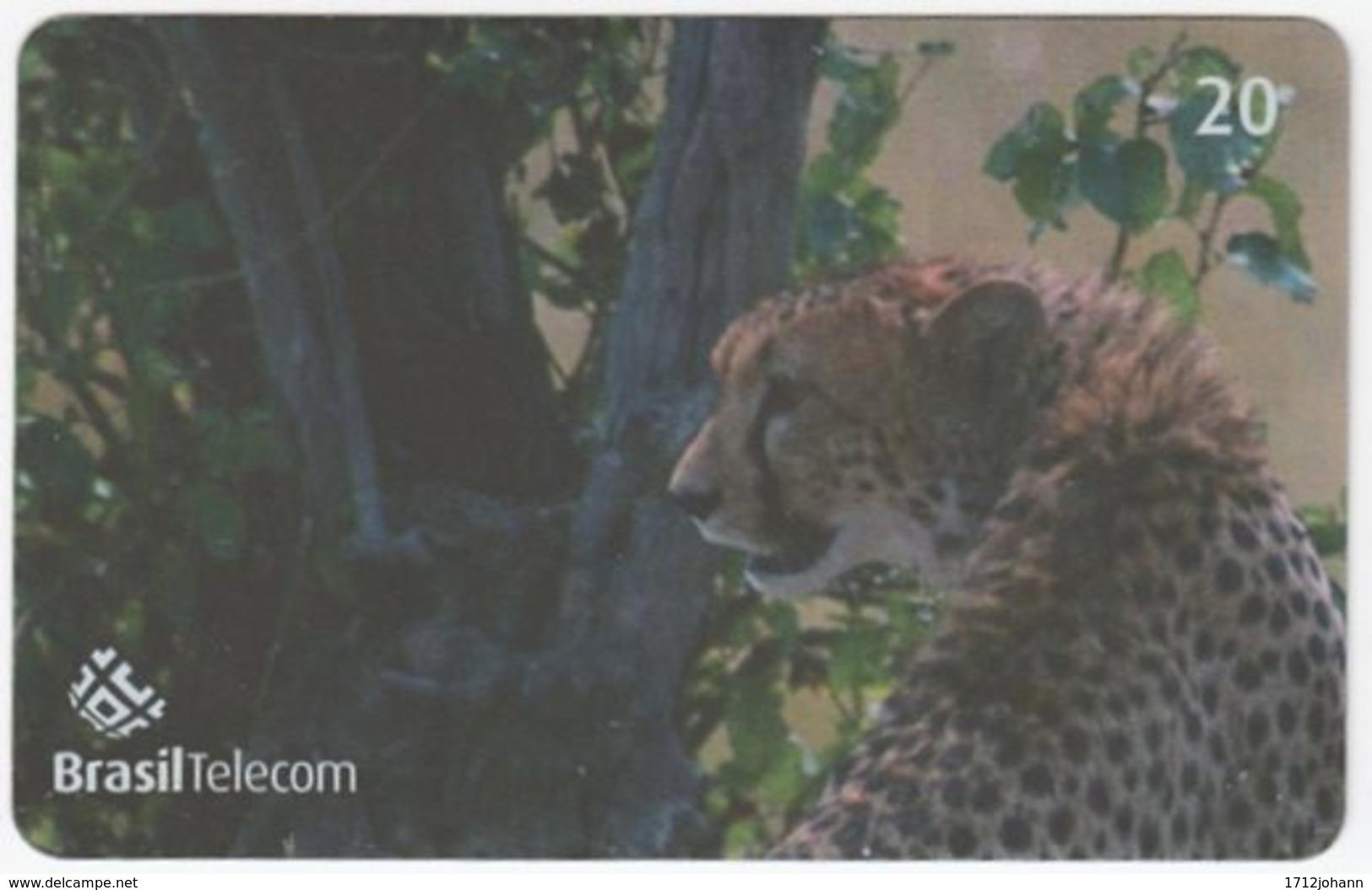 BRASIL G-779 Magnetic BrasilTelecom - Animal, Cat, Cheetah (Puzzle 1 Of 2) - Used - Brasilien