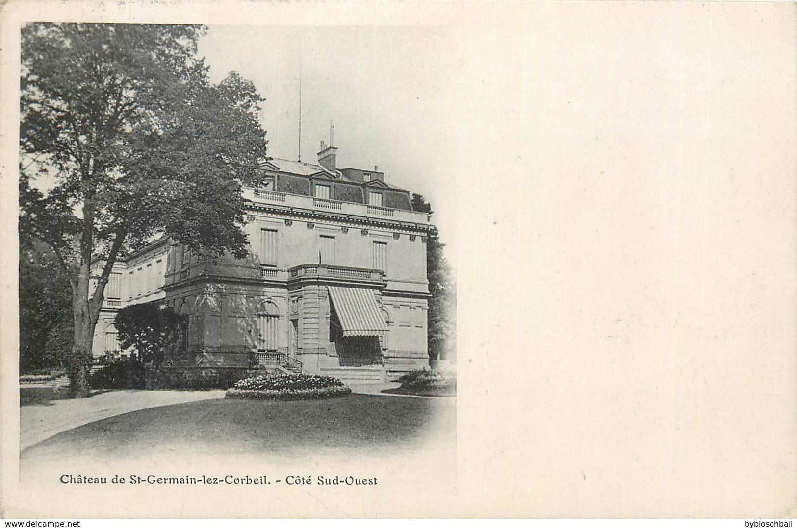 CPA 91 Essone Chateau De Saint Germain Les (Lez) Corbeil - Côté Sud Ouest - 1910 - Other Municipalities