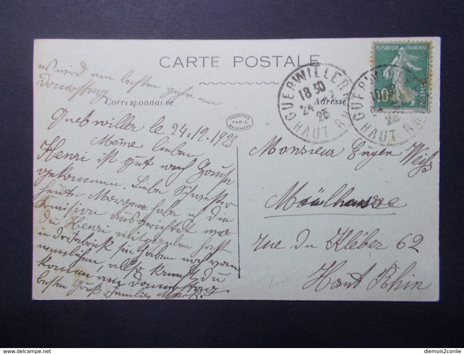 Carte Postale - ROUEN (76) - Rue Guillaume Le Conquérant - 1923 (2570) - Rouen